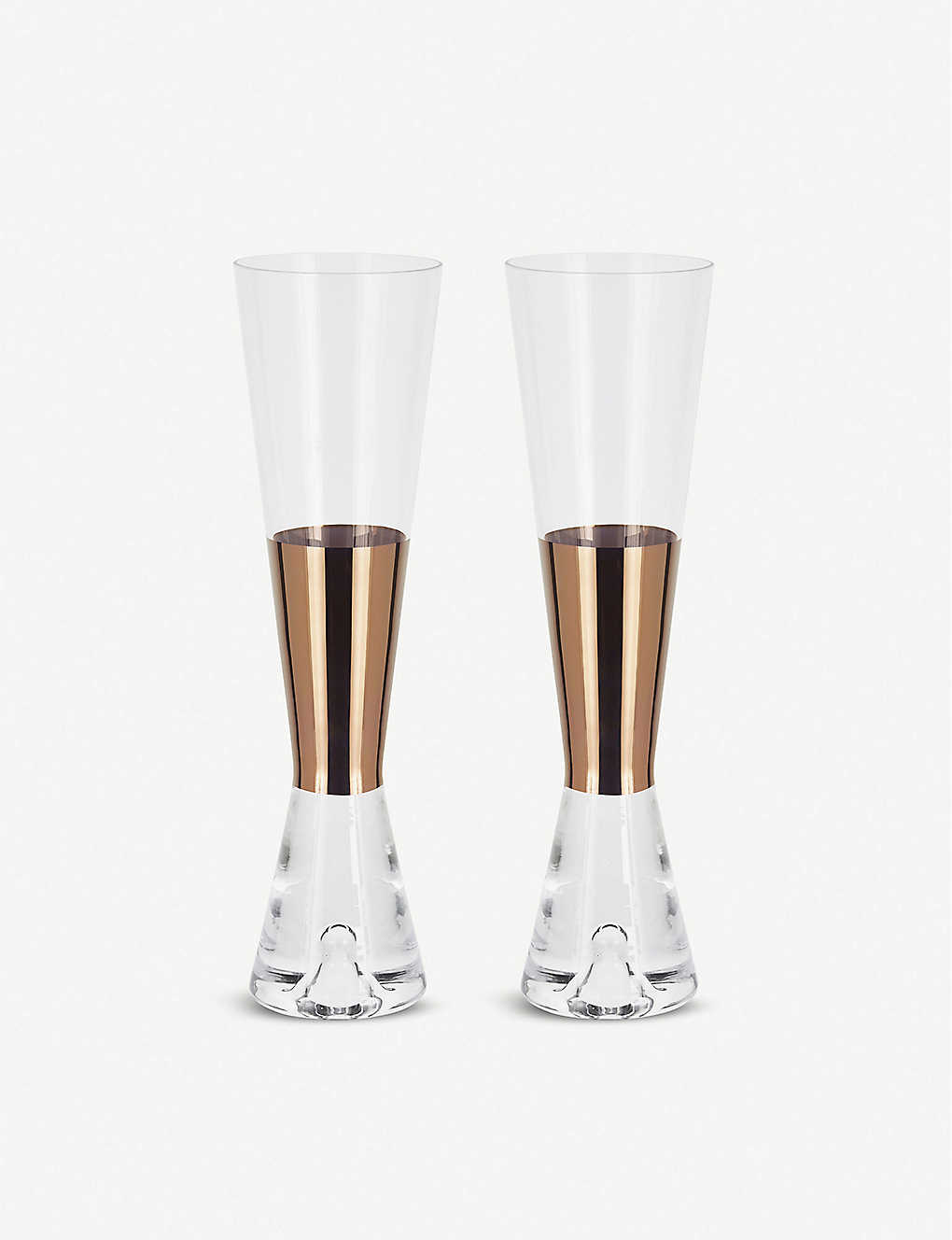 TOM DIXON: Tank champange glasses pair