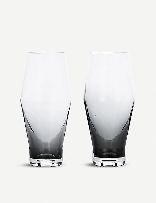 TOM DIXON: Tank Beer glasses set of 2
