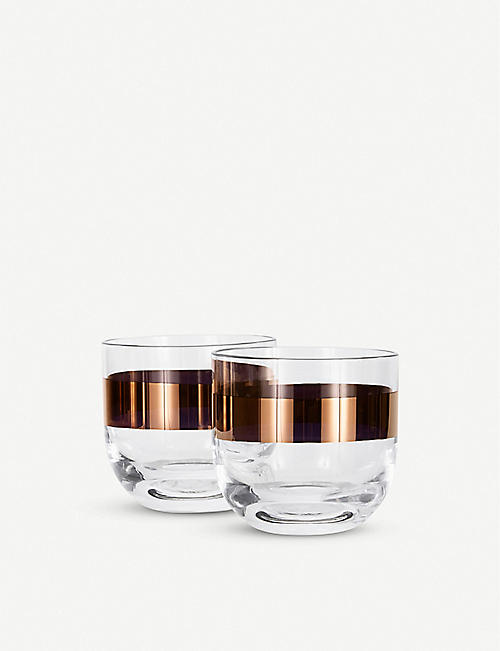 TOM DIXON: Tank whiskey glasses set of two