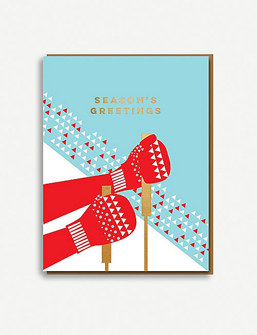 NINETEEN SEVENTY THREE Season's Greetings Christmas greetings cards pack of eight
