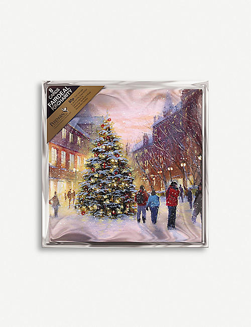 THE GREAT BRITISH CARD COMPANY Festive Tree Christmas greetings card 10cm x 10cm