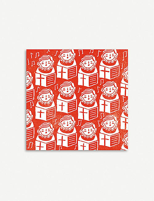 THE GREAT BRITISH CARD COMPANY Robin and Choir Boys pack of 20 Christmas cards