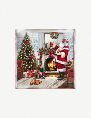 THE GREAT BRITISH CARD COMPANY Keeping warm Christmas cards pack of 12