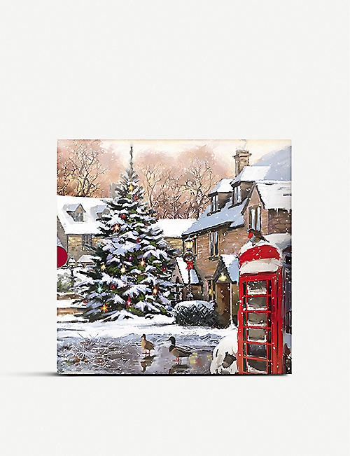 THE GREAT BRITISH CARD COMPANY Christmas in the village Christmas cards pack of 16
