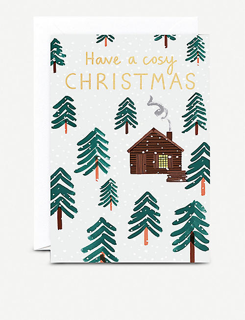 THE WRAP PAPER Have a Cosy Christmas greetings cards pack of six