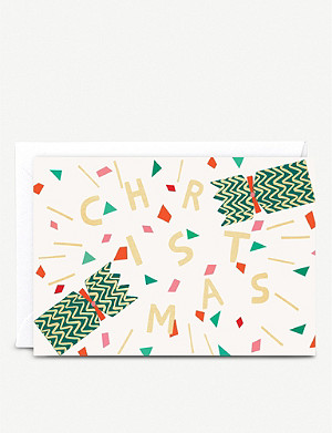 THE WRAP PAPER Christmas cracker greetings cards pack of six