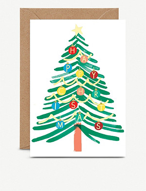THE WRAP PAPER Happy Christmas greetings cards pack of six