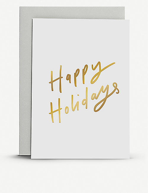 OLD ENGLISH COMPANY Happy Holidays greetings card