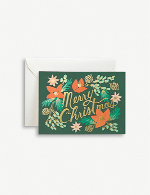 RIFLE PAPER Merry Christmas greetings cards pack of eight