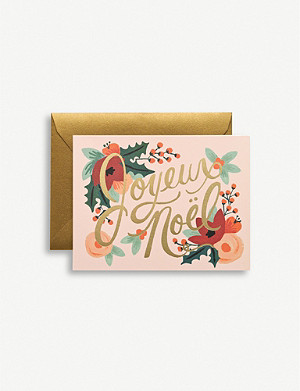 RIFLE PAPER Joyeux Noel Christmas greetings cards pack of eight