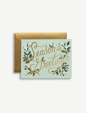 RIFLE PAPER Season's Greetings Christmas greetings cards pack of eight