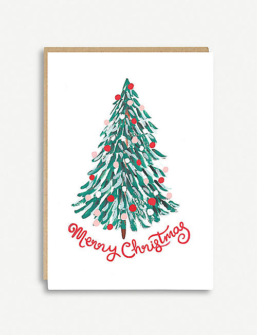 JADE FISHER 'Merry Christmas' greeting card 10.5 x 14.8cm