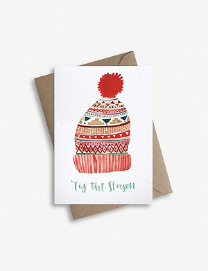 PARADE Fairisles hat greetings card