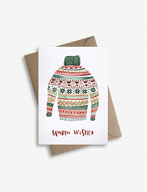 PARADE Fairisles jumper greetings card 11.4cm x 16.2cm
