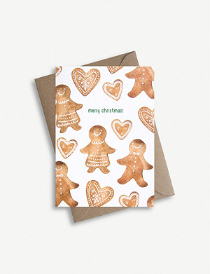 PARADE Gingerbread biscuits greetings card 11.4cm x 16.2cm