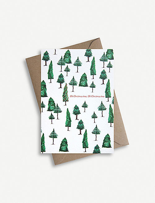PARADE Oh Christmas Tree greetings card 11.4cm x 16.2cm