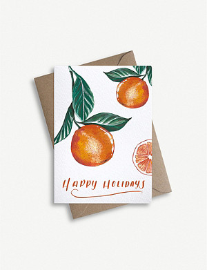 PARADE Oranges Christmas greetings card XXcm x XXcm