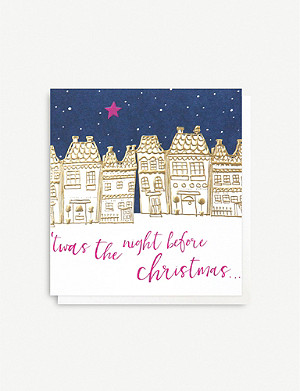 CAROLINE GARDNER Twas the night before Christmas greeting cards pack of five