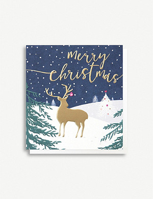 CAROLINE GARDNER Deer Christmas card pack of five