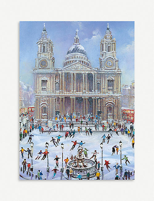 MUSEUMS AND GALLERIES Skating at st Pauls Christmas cards
