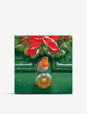 MUSEUMS AND GALLERIES Robins Welcome Charity Christmas card set pack of 8