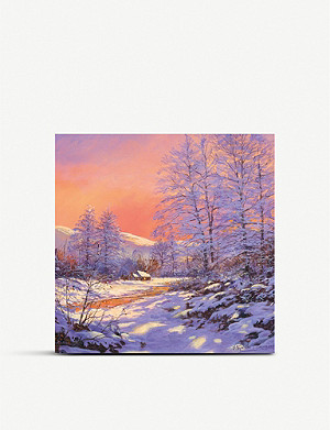 MUSEUMS AND GALLERIES Winter Sunset Charity Christmas card pack of five