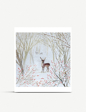MUSEUMS AND GALLERIES Deer Charity Christmas card set pack of 8