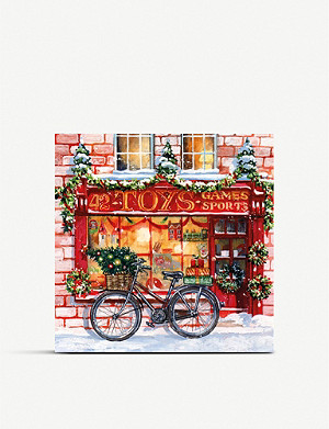 MUSEUMS AND GALLERIES Festive Toy Shop Charity Christmas card set pack of 8