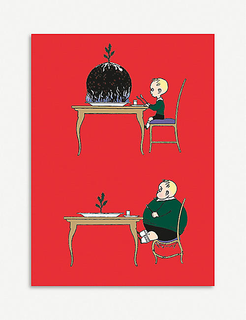 MUSEUMS AND GALLERIES Pudding boy Christmas card 8-pack
