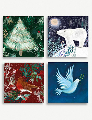 MUSEUMS AND GALLERIES Winter Forest Charity Christmas card set pack of 20