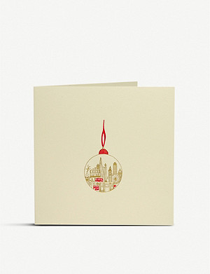 JULIE BELL London bauble Christmas cards pack of 10