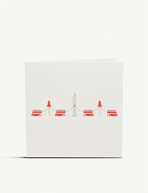 JULIE BELL Nelson's column and buses Christmas cards pack of 10