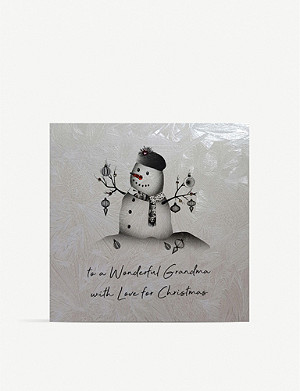 FIVE DOLLAR SHAKE To A Wonderful Grandma Christmas card 17cm