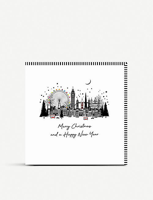 FIVE DOLLAR SHAKE London skyline Christmas cards pack of six