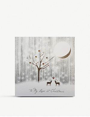 FIVE DOLLAR SHAKE To My Love at Christmas greetings card 17cm x 17cm
