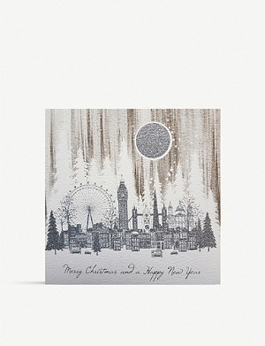FIVE DOLLAR SHAKE Merry Christmas London greeting card 17.5cm x 17.5cm