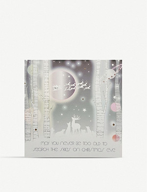 FIVE DOLLAR SHAKE Search the Skies on Christmas Eve greetings card 17cm