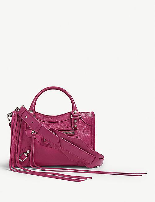BALENCIAGA Mini City lambskin cross-body bag e9271461dbf48