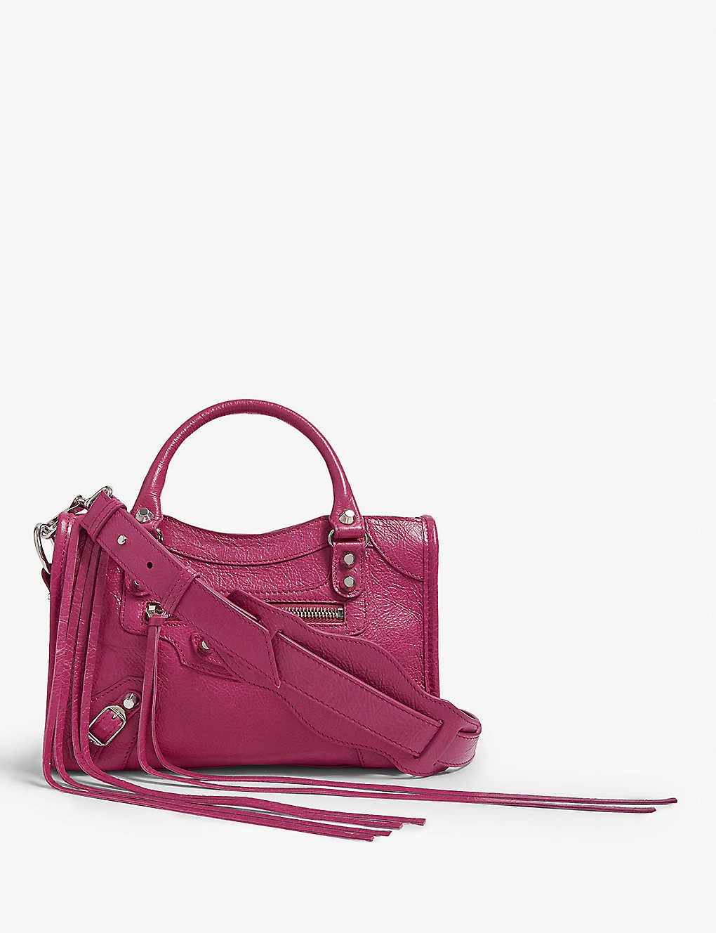 e3155de05bd BALENCIAGA - Mini City lambskin cross-body bag | Selfridges.com