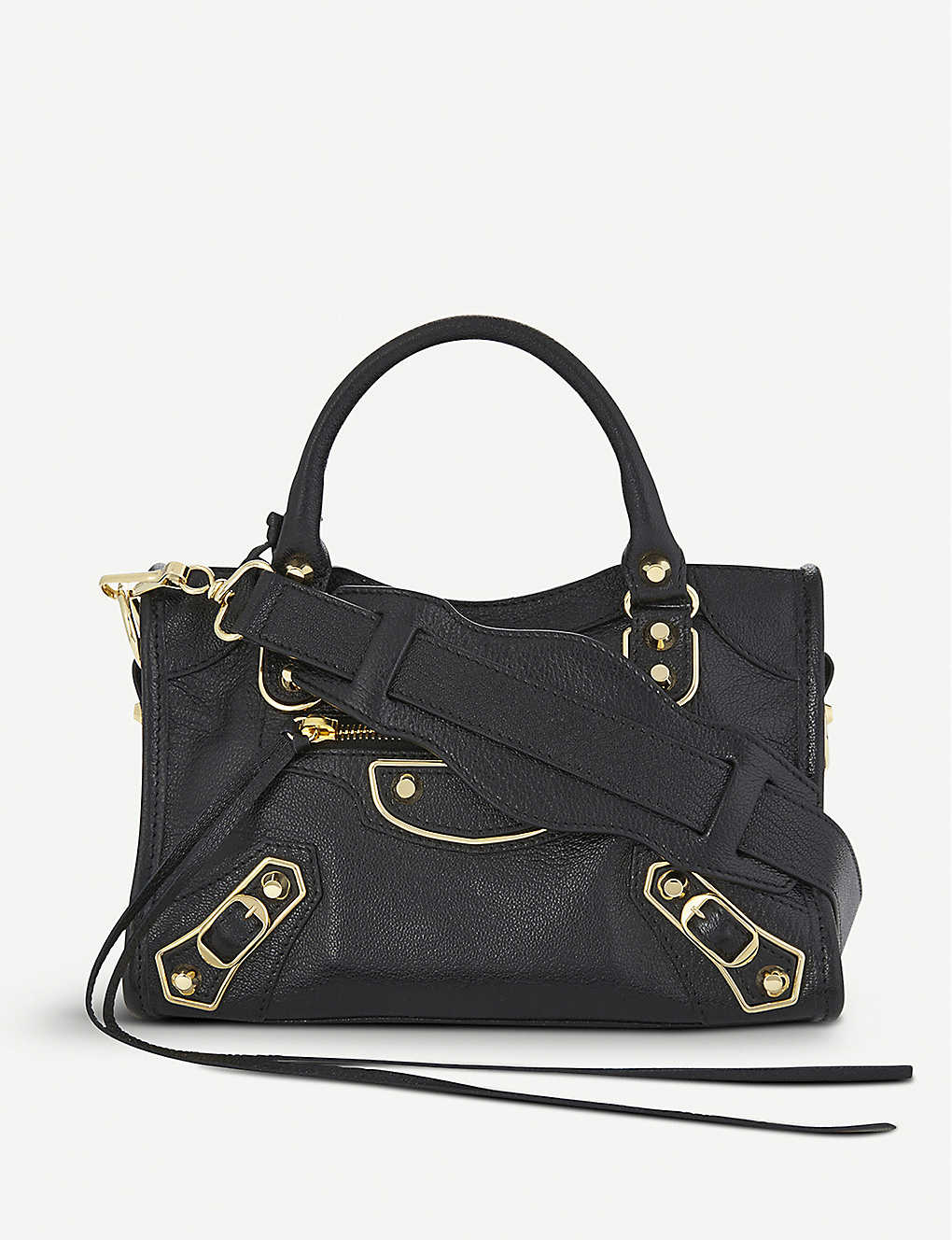cc563f236d BALENCIAGA - Metallic Edge City mini leather shoulder bag ...