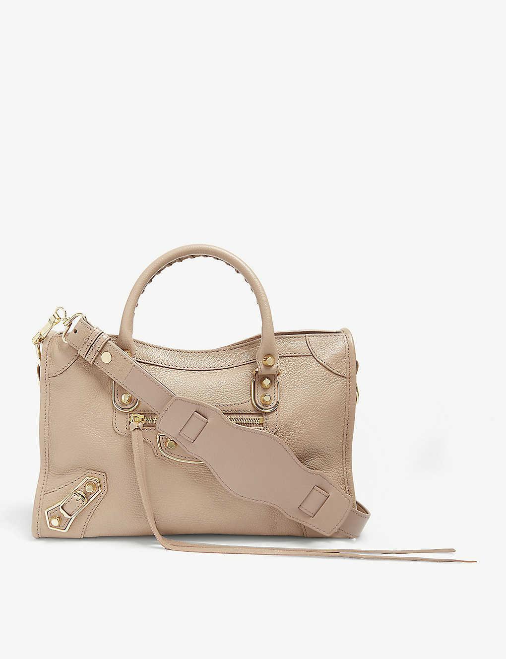 83da9faf83 BALENCIAGA - Classic Metallic Edge City grained leather tote bag ...