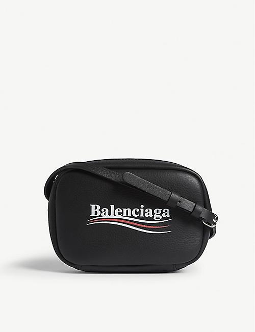 7397f3f2b2c BALENCIAGA Everyday XS logo leather camera bag