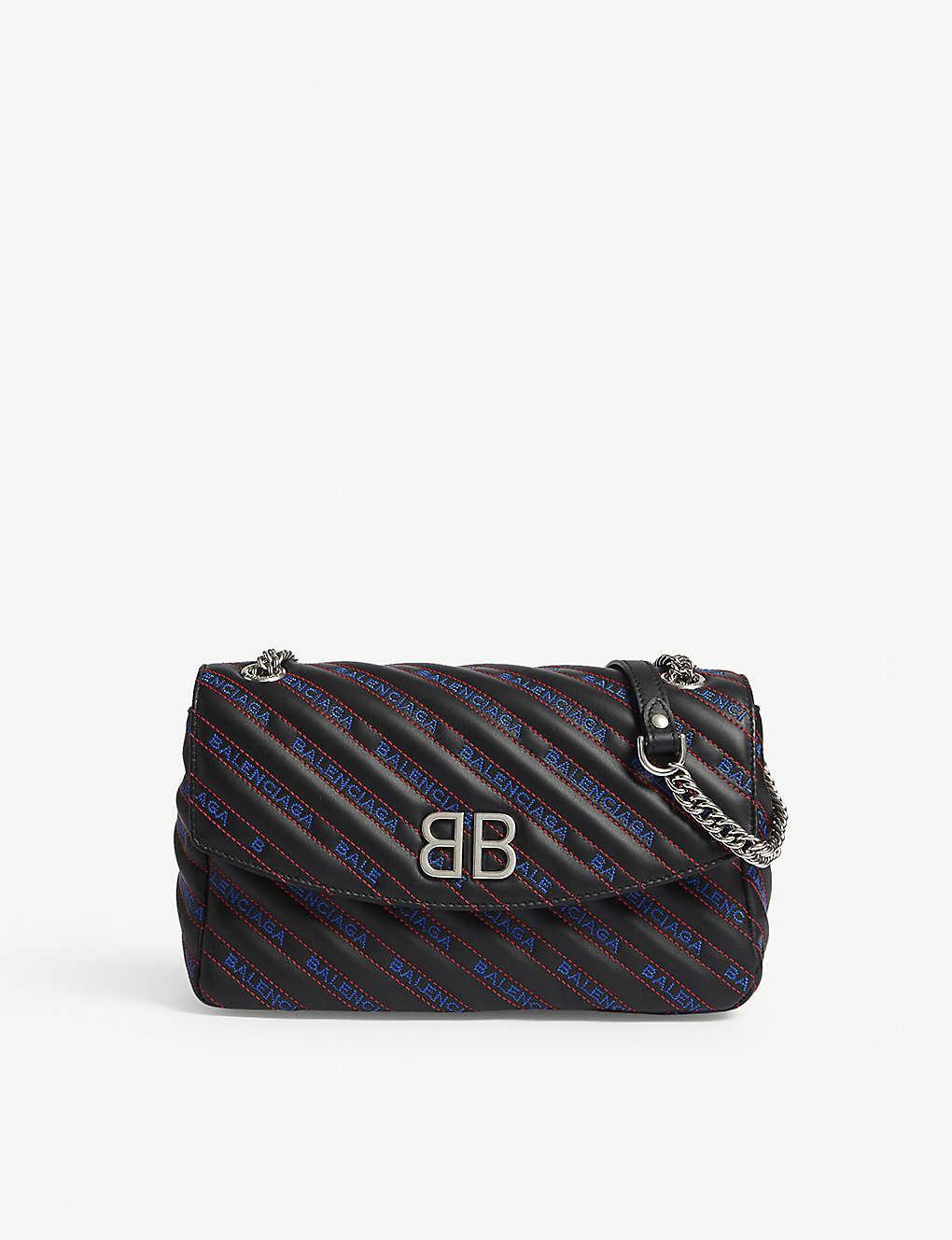 7c12679c59b2fb BALENCIAGA - BB Round leather shoulder bag   Selfridges.com