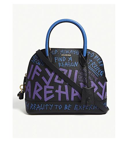 ... BALENCIAGA Graffiti purse (Black purple. PreviousNext eb7573799deb9
