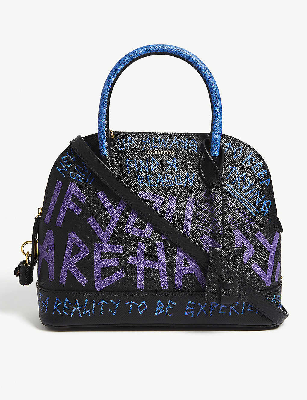 Graffiti handbag blackpurple