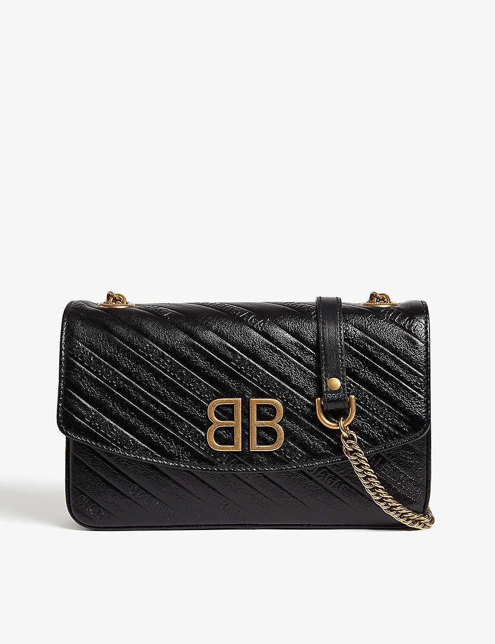 576a10c3edfca BALENCIAGA - BB Chain small leather shoulder bag | Selfridges.com