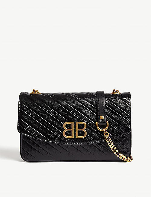 4c344e3f6e662 BALENCIAGA BB Chain small leather shoulder bag