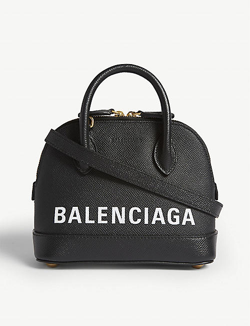 9d9222ae6737 BALENCIAGA Ville micro grainer leather cross-body bag