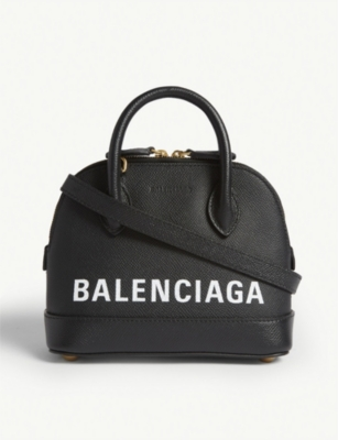 BALENCIAGA Ville micro grainer leather cross-body bag