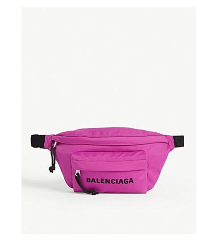 Balenciaga Wheel Belt Bag In Fuschia/black